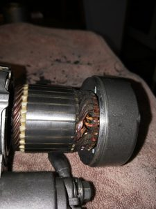 Starter after having been rotated above 30,000 RPM